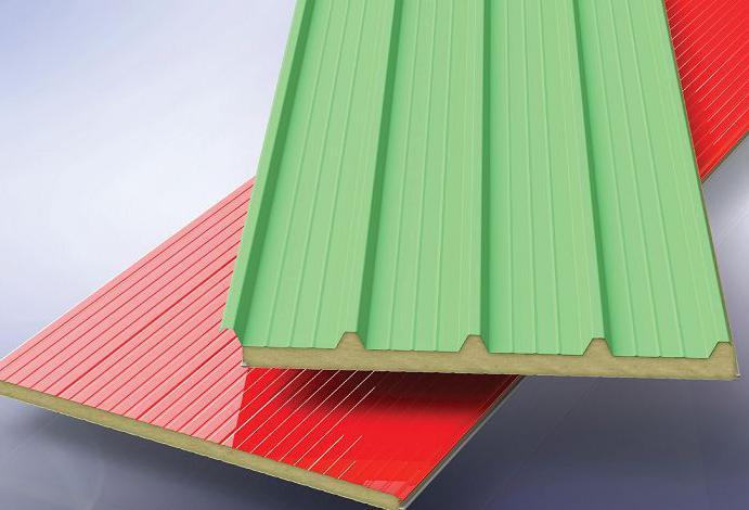 Panneaux sandwich pour toiture et cloisons